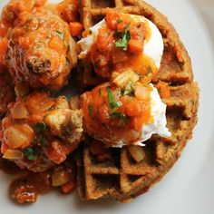 Brunch just got better. Meet ART Restaurant's Chicken Osso Bucco made with two farm-fresh eggs, braised chicken and savory waffles.