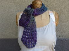 Twilight Shades Lattice Crochet Scarf by BazaarCharlotte on Etsy, $14.99