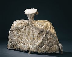 Sofia Magdalena's wedding gown, robe de cour, worn at the wedding at the Palace Church November 4, 1766. Oh that poor lady! That dress is hideous!