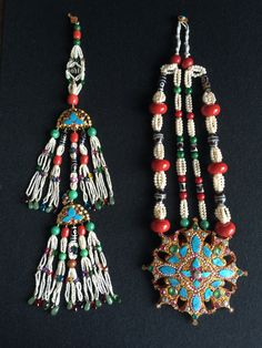 Antique Tibetan gau, necklace & chap chap. Gold, turquoise, coral, pearls, jade and dzi beads. WOW