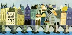 Art by Eyvind Earle, for Disney's The Truth About Mother Goose