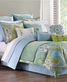 $300, Macys Echo Bedding, Sardinia California King Comforter Set - Bedding Collections - Bed & Bath - Macy's