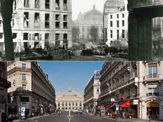 Le percement de l'avenue de l'Opéra. Pour dégager la perspective sur l'édifice construit par Charles Garnier, il fallut araser la butte des Moulins. Ce quartier élevé sur les remblais de l'enceinte de Charles V était voué au jeu et à la prostitution.