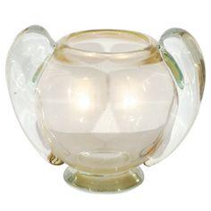 Vintage Gold Round Vase