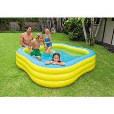 Inflatable Swimming Pool Air Blown Outdoor Backyard Swim Family Pools 330  Gallon