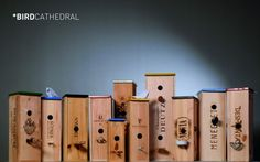 Bird Cathedral in wood packagings with Wood Box Bird House Bird