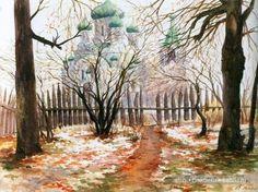 "Painting by Grand Duchess Olga Alexandrovna Romanova of Russia. ""AL"""