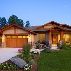Landscape ideas for craftsman style home