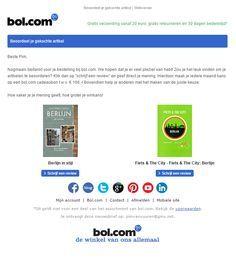 Bol.com - Mooie product review campagne waarbij de klant een cadeabon kan winnen nadat de review is ingevuld. Mail Marketing