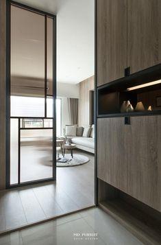 Cabinet Design, Door Design, House Design, Built In Furniture, Furniture Design, Door Dividers, Stone Wall Design, Partition Design, Interior Decorating