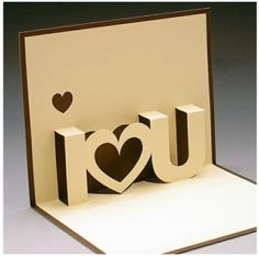 I love u pop up card