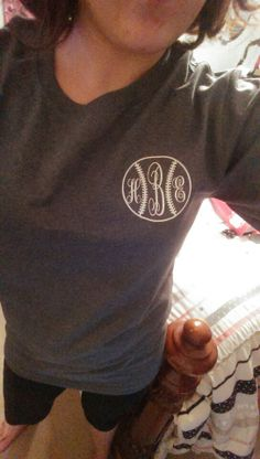 Baseball tee with monogram...LOVE!!!!!!