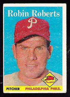 1958 TOPPS #90 ROBIN ROBERTS PHILLIES
