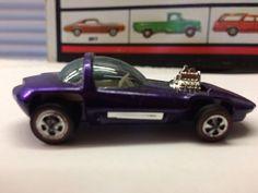 VTG Original 1968 Hot Wheels Redline SILHOUETTE Metallic Purple BEAUTIFUL USA #HotWheels #Ford