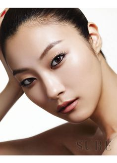 korean / asian / dramatic black eye & lashes / nude lips