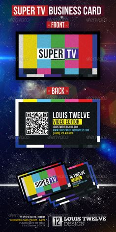 Super Tv - Video Editor | Business Card - Creative Business Cards