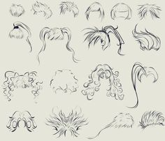 This anime hair reference sheet by ryky is all you need to get those flowy locks looking just right.  #drawing • #reference • #anime • #DeviantArt