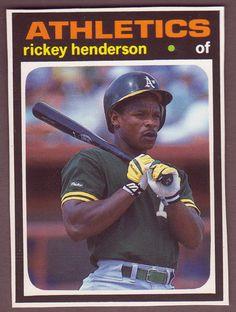 1991 BBC Magazine RICKEY HENDERSON 1971 Topps Baseball Design