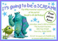 Monsters Inc Birthday Invite