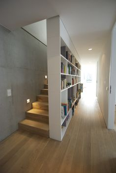 Modern Interior with Stunning Bookshelf Ideas for Book Lovers – Futurist Architecture Modern Interior, Home Interior Design, Interior Architecture, Futuristic Architecture, Interior Ideas, Interior Stairs, Apartment Interior, Hall Interior, Home Deco