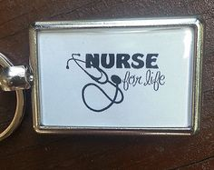 Nurse Keychain  for Life customizable gifts personalized, double sided