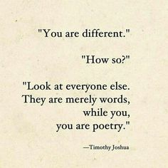 you are poetry