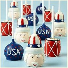 4th of July Cake Pops......cute!