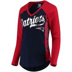 Women's New England Patriots Hands High Navy Stadium Long Sleeve T-Shirt - Size XL please.