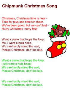 Image detail for -Chipmunk Christmas Song Lyrics Latest Christmas Songs, Christmas Song Quotes, Christmas Songs For Kids, Xmas Songs, Xmas Music, Christmas Sheet Music, Favorite Christmas Songs, Christmas Carol, Christmas Fun