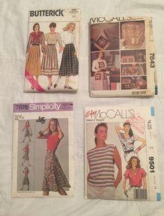Mixed Lot 4 Sewing Patterns Vintage Simplicity McCall's Butterick Women Kitchen #ButterickSimplicityMcCalls