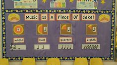 elementary music bulletin board | Note value bulletin board! Elementary music | Music & Math