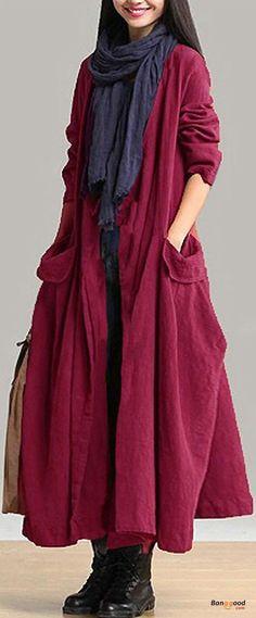 US$34.99 + Free shipping. Size: M~5XL. Color: Black, Burgundy. Women's Coats, Long Coats, Winter Coats, Women's Fashion. SHOP NOW!
