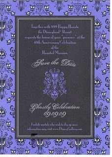 Haunted Mansion Wedding Invite
