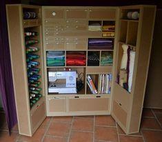 Armoire en carton pour matériel d'atelier créatif - SG Mobilier Carton - Angers