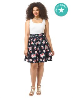 Candy Bloom Skirt by  @citychiconline,  Available in sizes XS-XXL