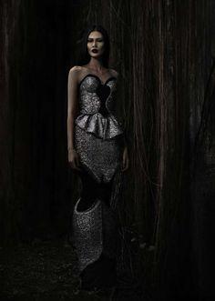 Darkly Shimmering Fashion  The Sapto Djojokartiko 2012 Lookbook is Romantically Gothic