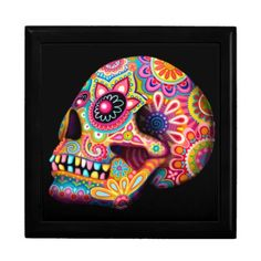 Sugar Skull Gift Box - Day of the Dead Art
