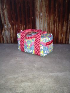 Fun and bright quilted large duffle bag. Perfect bag for weekend getaway or gift for a friend! on Etsy, $65.00