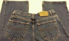 Jordache Sz 9/10 short women's juniors misses 100% cotton bootcut blue jeans