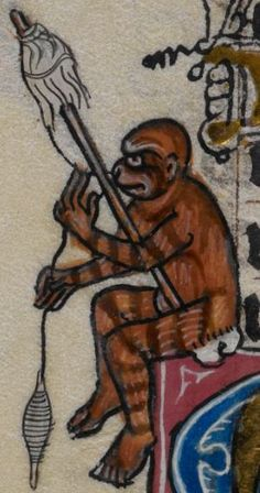 Detail from medieval manuscript, British Library Stowe MS 17 'The Maastricht Hours', f133v