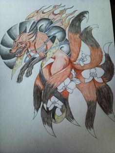 Japanese Fox Tattoo by KillaDuckeh