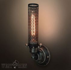 Vintage Metal Mesh Wall lamp Industrial Wall Sconce Rustic Retro Edison Wall Mount Lights Loft Stair Bar Coffee Lighting