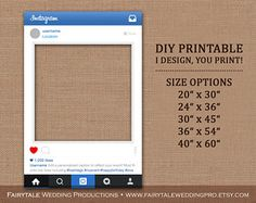 New UPDATE Personalized Instagram Style Prop Frame DIGITAL