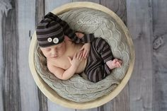 from Canada - so, upgrade shipping.  $30 for the set. Newborn Photography Prop  Stocking Hat & Pants by snugglywunkins