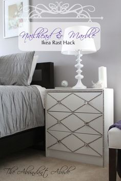 The Abundant Abode: Sunday in Suburbia: Nailhead & Marble Ikea Rast Hack
