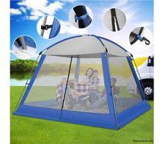 3x3M Blue Outdoor Pop-Up Mesh Walled Tent