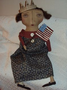 Primitive doll made by WannaPlayDollys
