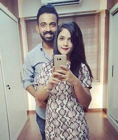 Latest click of Ajinkya Rahane with his wife Radhika - http://ift.tt/1ZZ3e4d