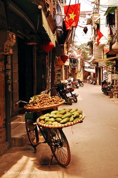 Hanoi Street, Vietnam  Please like,repin or follow us on Pinterest to have more interesting things. Thanks. http://hoianfoodtour.com/ #Vietnam #unique #Hanoi