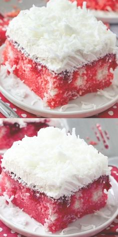 This Raspberry Zinger Poke Cake will be the talk of every potluck, family reunion, and cookout! Poke Cake Recipes, Poke Cakes, Dessert Recipes, Desserts To Make, Holiday Desserts, Easter Cake Easy, Homemade White Cakes, Cake Mix Ingredients, Meringue Desserts